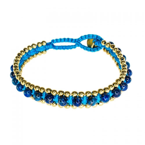 Barong Barong Blue and Turquoise Happy Dragon Bracelet