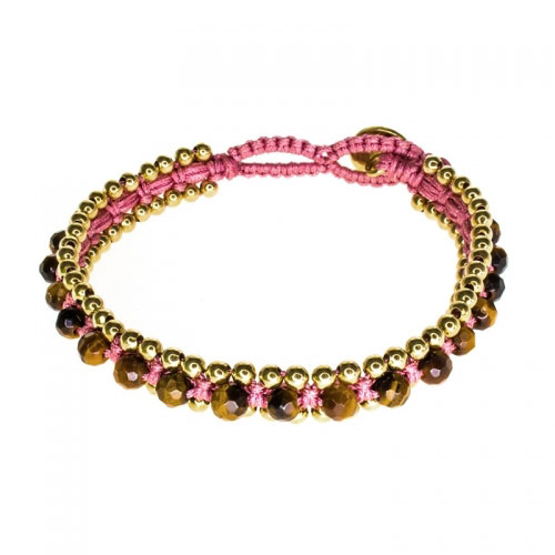 Barong Barong Brown and Pink Happy Dragon Bracelet