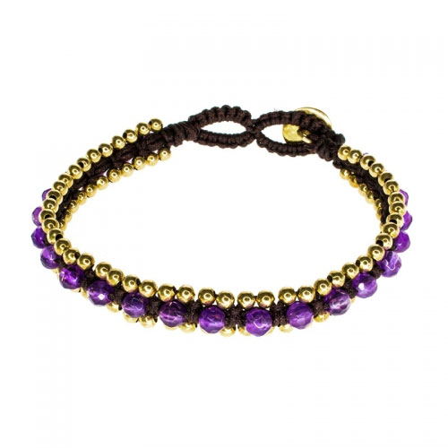 Barong Barong Purple and Brown Happy Dragon Bracelet