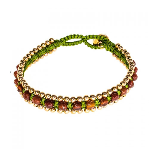 Barong Barong Red and Green Happy Dragon Bracelet