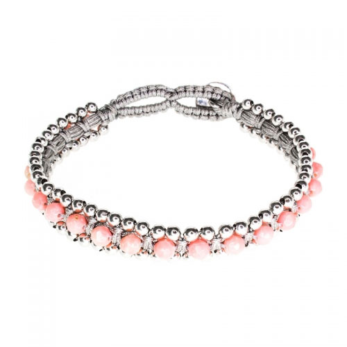 Barong Barong Pink and Grey Happy Dragon Bracelet