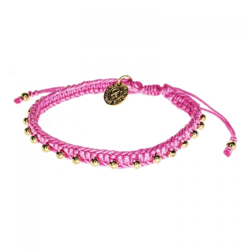 Barong Barong Old Pink and Gold Lucky Pocket Bracelet