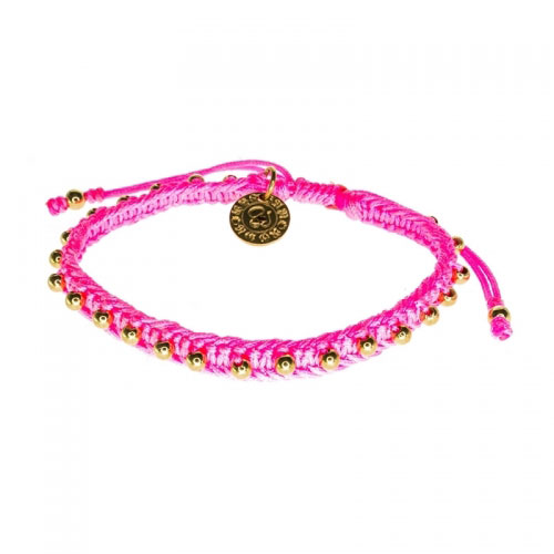 Barong Barong Neon Pink and Gold Lucky Pocket Bracelet