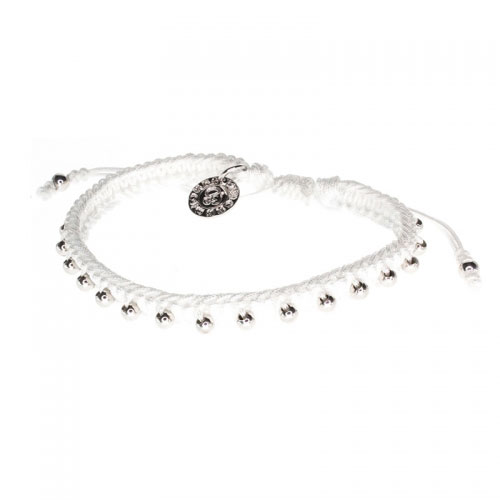 Barong Barong White and Silver Lucky Pocket Bracelet