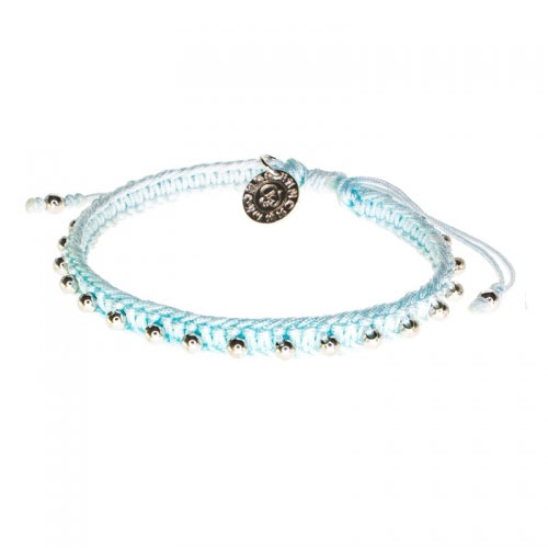 Barong Barong Light Blue and Silver Lucky Pocket Bracelet