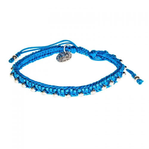 Barong Barong Blue and Silver Lucky Pocket Bracelet