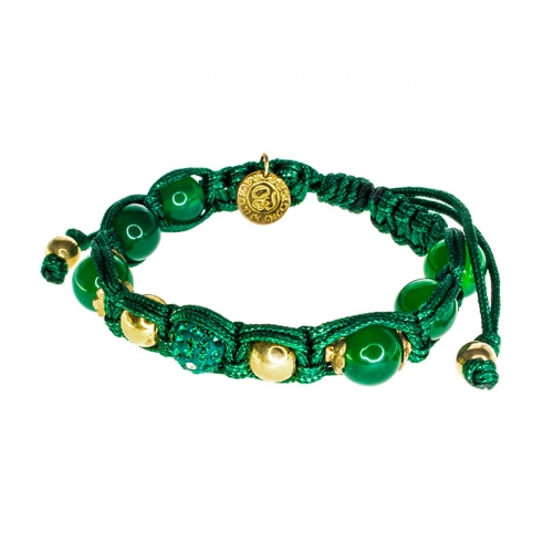 Barong Barong Green with Gold and Jade Stone Lucky Sparkle Bracelet