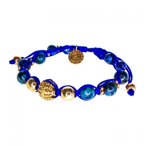 Barong Barong Blue with Rose Gold Small Lucky Sparkle Bracelet
