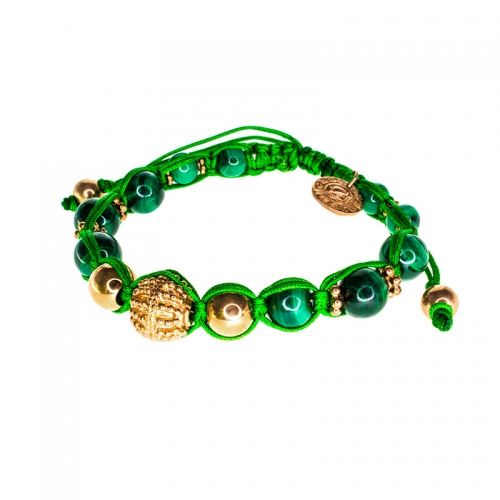 Barong Barong Green with Rose Gold Small Lucky Sparkle Bracelet