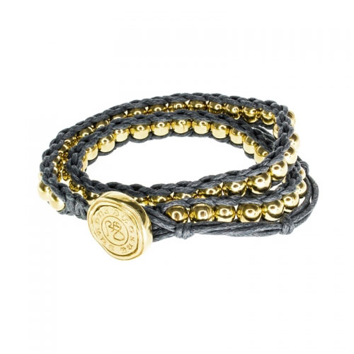 Barong Barong Grey and Gold Lucky Long Time Bracelet