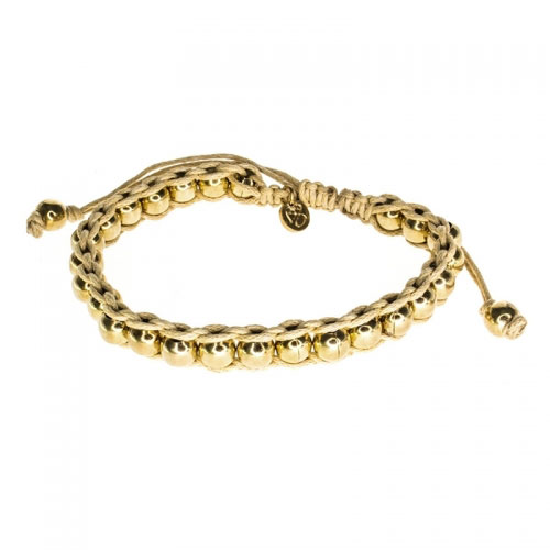 Barong Barong Beige and Gold Lucky Time Bracelet