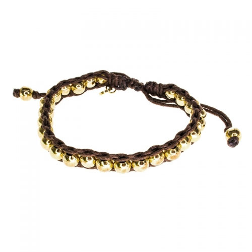 Barong Barong Brown and Gold Lucky Time Bracelet
