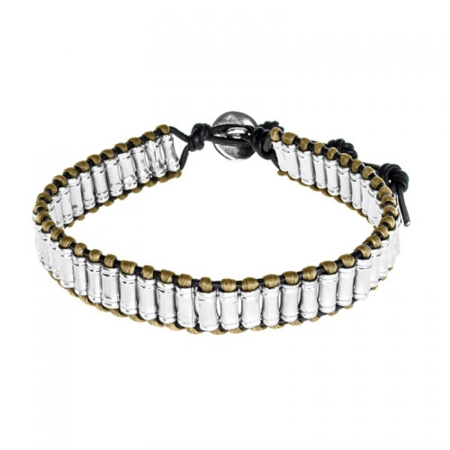 Barong Barong White and Silver Big Time Bracelet