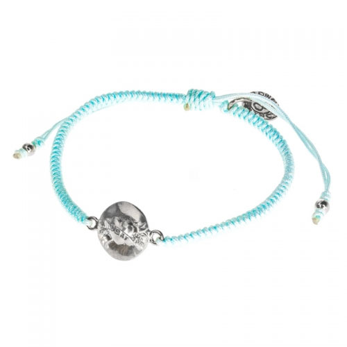 Barong Barong Light Blue and Silver One Luck Heart Bracelet