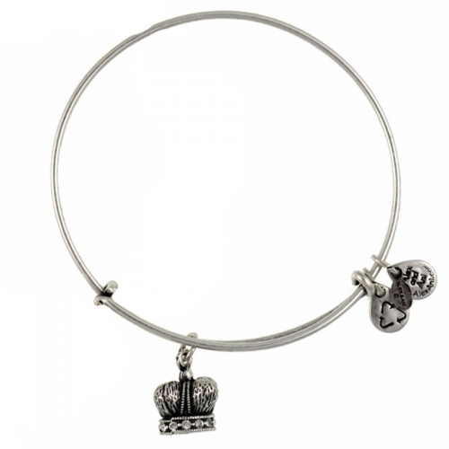 Alex and Ani King's Crown Silver Bangle A09EB133RS