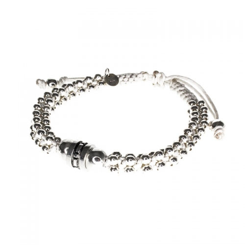 Barong Barong White and Silver Lucky Extra Bracelet