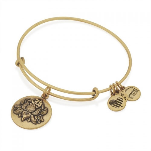 Alex and Ani Lotus Peace Petals Gold Bangle A16EBLPPRG