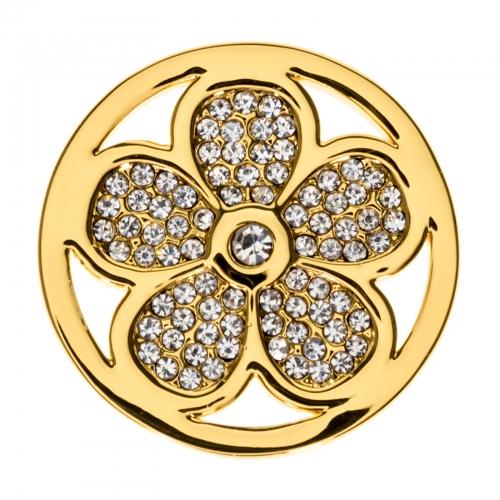 Timebeads Gold Sparkling Daisy Medium Coin