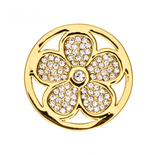 Timebeads Gold Sparkling Daisy Small Coin