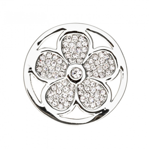 Timebeads Silver Sparkling Daisy Small Coin