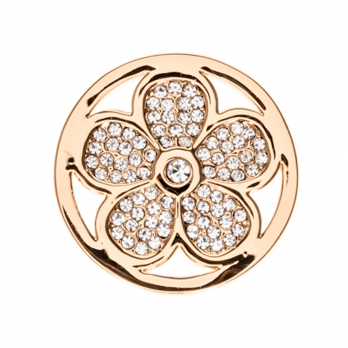 Timebeads Rose Gold Sparkling Daisy Small Coin