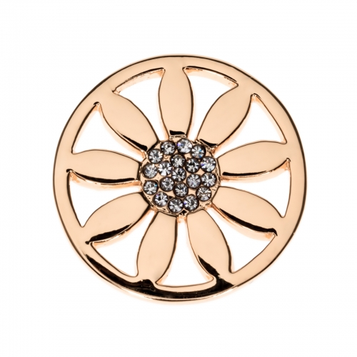 Timebeads Rose Gold Petals Small Coin