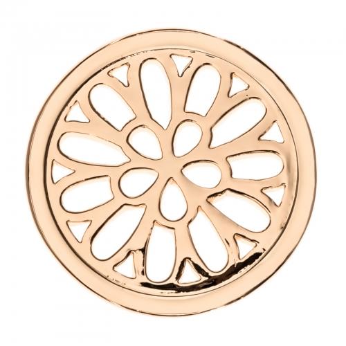 Timebeads Rose Gold Spiralling Petals Medium Coin