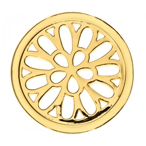 Timebeads Gold Spiralling Petals Medium Coin