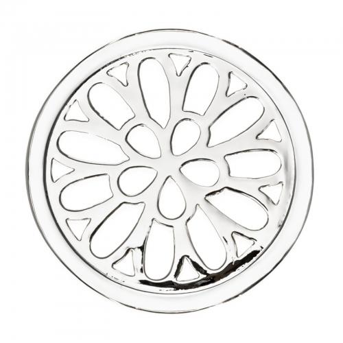 Timebeads Silver Spiralling Petals Medium Coin