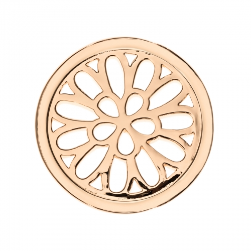 Timebeads Rose Gold Spiralling Petals Small Coin