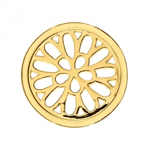 Timebeads Gold Spiralling Petals Small Coin