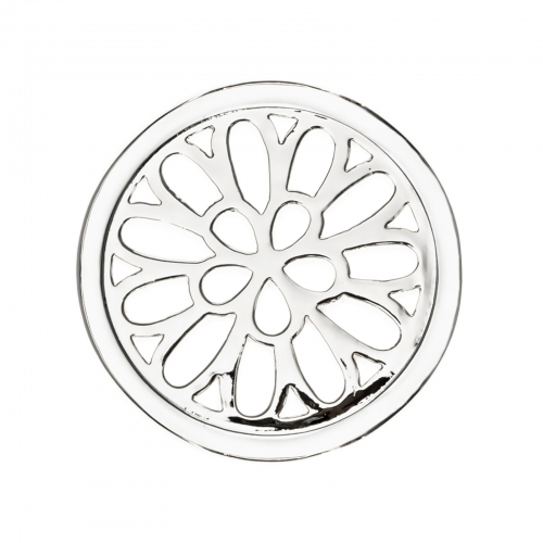 Timebeads Silver Spiralling Petals Small Coin