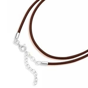Spinning Jewelry Brown Leather Necklace 4844
