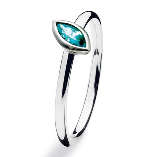 Spinning Jewelry Navette Stackable Ring 15400