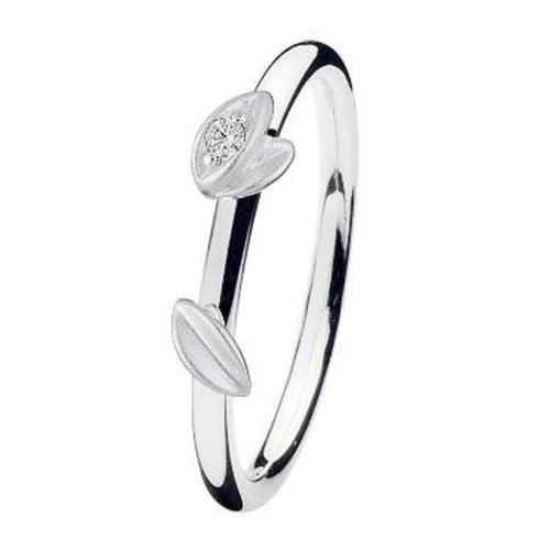 Spinning Jewelry Dancing Leaf Stackable Ring 19010