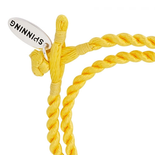 Spinning Jewelry Yellow Satin Cord Bracelet  475312