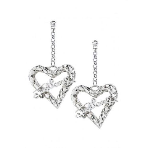 Just Cavalli Jewels Cross Heart Earrings