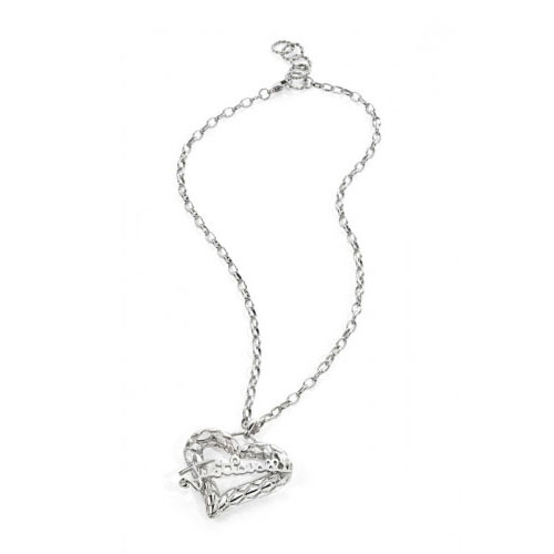 Just Cavalli Jewels Cross Heart Pendant