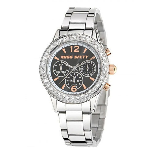 Miss Sixty Glenda Black Dial Watch R0753103501