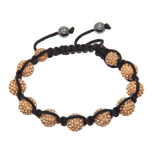 Lucet Mundi Gold Crystal Shamballa Bracelet