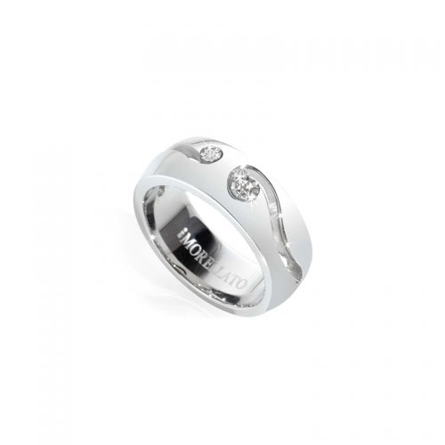 Morellato Steel Love Ring with Diamonds