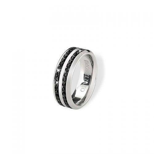 Morellato Love Ring with Black CZ