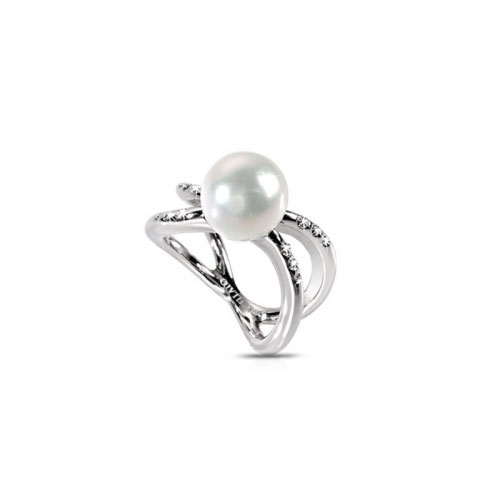 Morellato Twist Pearl and Crystal Ring