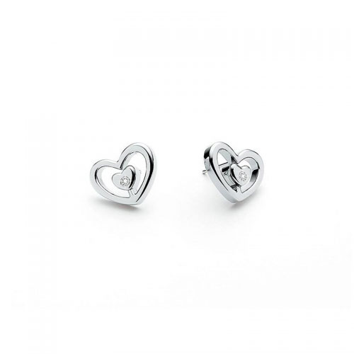 Morellato Delight Heart Stud Diamond Earrings