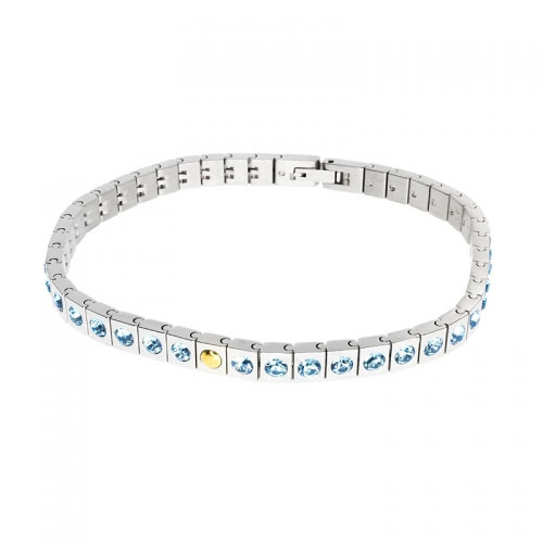 Morellato Square Link and Blue Crystal Bracelet