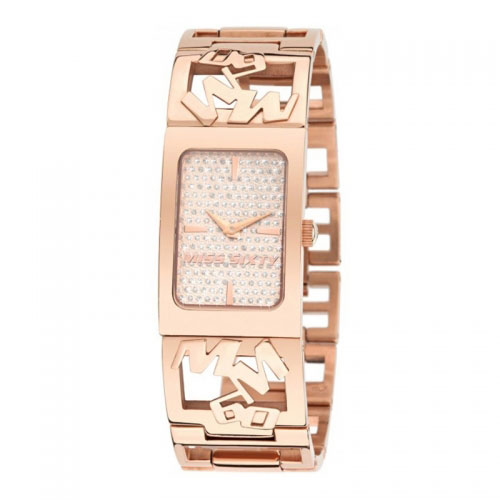 EX-DISPLAY: Miss Sixty Sign Rose Tone Watch