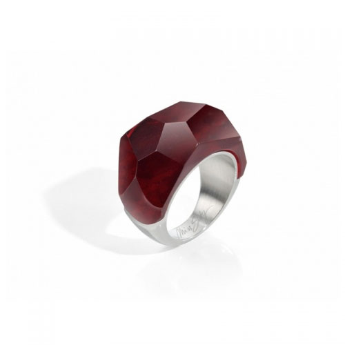 Miss Sixty Red Faceted Ring