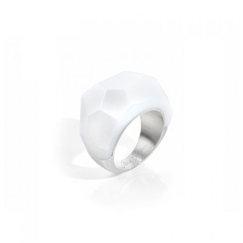 Miss Sixty White Faceted Ring