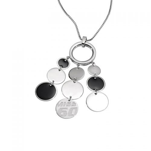 Miss Sixty Paillettes Black Necklace