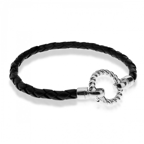 Zinzi Leather Braided Bracelet